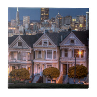 「女性」家の夜眺めは絵を描きました タイル