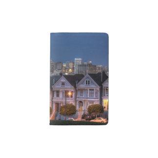 「女性」家の夜眺めは絵を描きました ポケットMoleskineノートブック