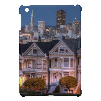 「女性」家の夜眺めは絵を描きました iPad MINIケース
