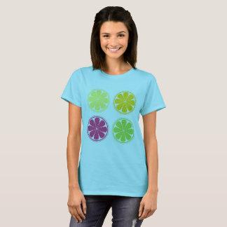 女性/柑橘類が付いているデザイナー   Tシャツ