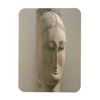 女性(石)の頭部 マグネット