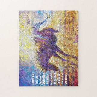 女性-野生動物のパズルのためのバラ ジグソーパズル