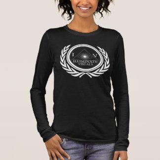 女性-長袖- IVオリジナル-白いロゴ Tシャツ