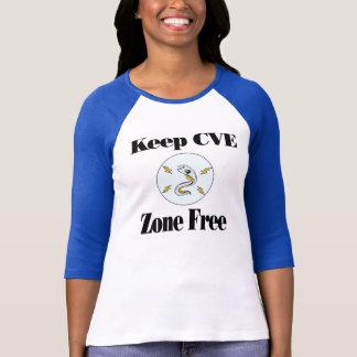 女性: CVEの地帯の自由なワイシャツを保って下さい Tシャツ