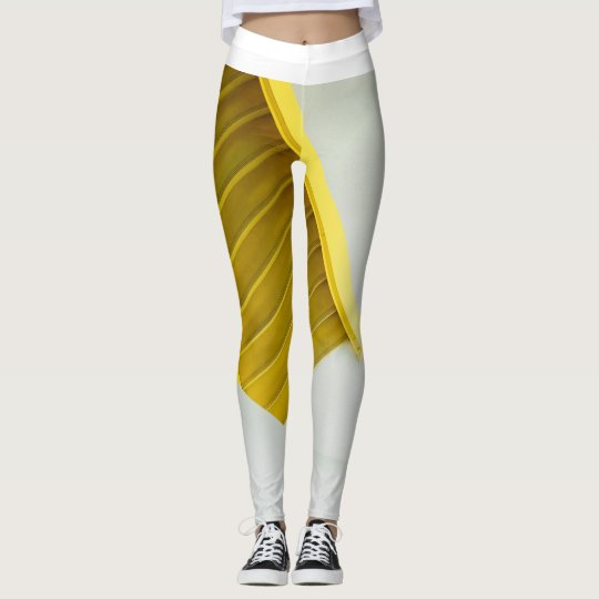 女性、Leggings&Yellowの梯子 レギンス