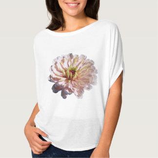 女性Bellaのトップの最も淡い色のなピンクの《植物》百日草 Tシャツ