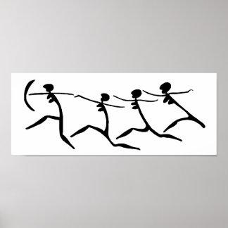 女性BWを走ること ポスター