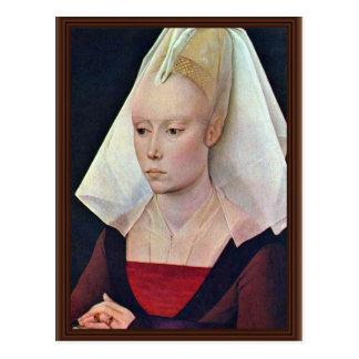 女性By Weyden RogierヴァンDerのポートレート ポストカード