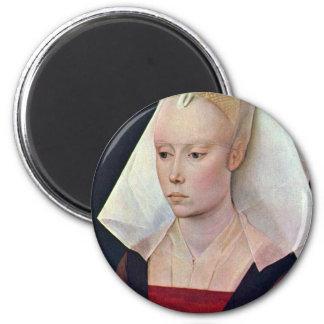 女性By Weyden RogierヴァンDerのポートレート マグネット