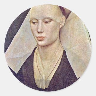 女性By Weyden RogierヴァンDerのポートレート ラウンドシール