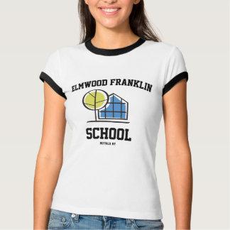 女性Elmwoodフランクリンロゴのティー Tシャツ