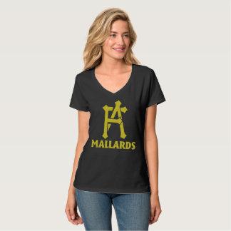 女性FAマガモのV首のTシャツ Tシャツ