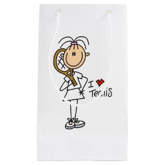 女性I愛テニスのギフトバッグ スモールペーパーバッグ