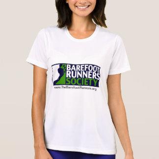 女性Microfiber T陰性のロゴ+URL Tシャツ