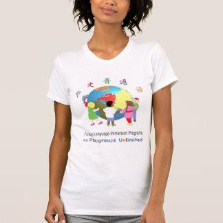 女性Tシャツのマンダリン Tシャツ
