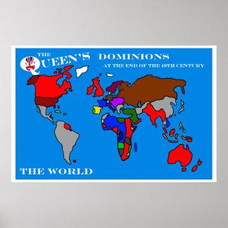 女王に従うビクトリア世界 ポスター