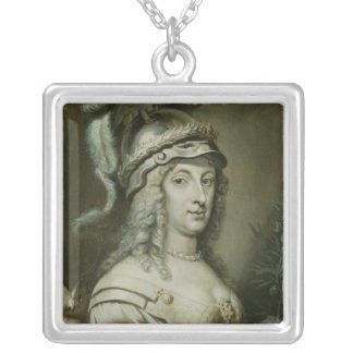 女王のクリスティーナ寓話的なポートレートの シルバープレートネックレス