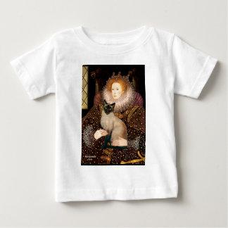 女王のシールポイントシャム猫 ベビーTシャツ