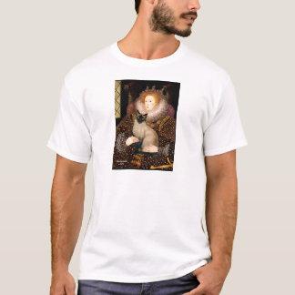女王のシールポイントシャム猫 Tシャツ