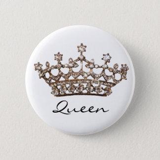 女王のティアラの宝石ボタン 缶バッジ