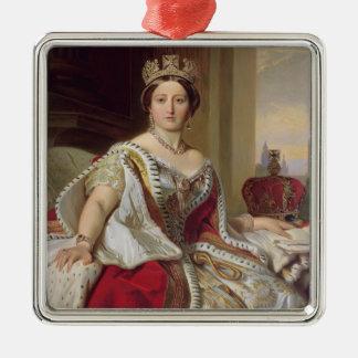 女王のビクトリア(1819-1901年) 1859年ポートレート(油o メタルオーナメント