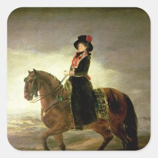 女王のマリアルイザ乗馬のポートレート スクエアシール