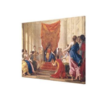 女王の前にEleuterylidaひざまずくPoliphilus キャンバスプリント