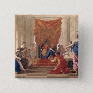 女王の前にEleuterylidaひざまずくPoliphilus 5.1cm 正方形バッジ