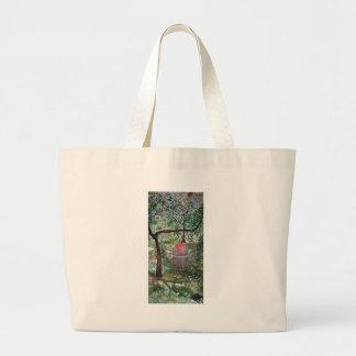 女王の庭のモモ木 ラージトートバッグ