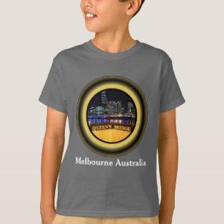 女王の橋上のメルボルンオーストラリアCBDライト Tシャツ