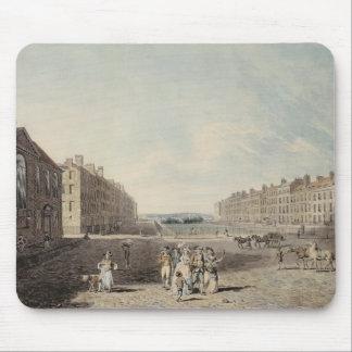 女王の正方形、ロンドン1786年(w/cおよびペンとインクov マウスパッド