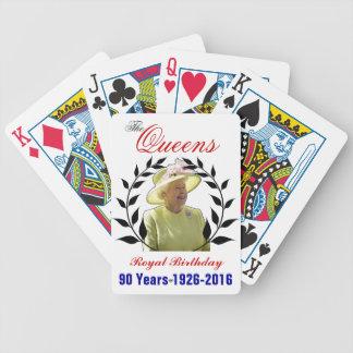 女王の王室のな誕生日のトランプ バイスクルトランプ