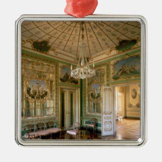 女王の私室1774-86年 シルバーカラー正方形オーナメント