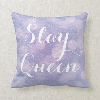 、女王の紫色の《写真》ぼけ味殺害して下さい クッション