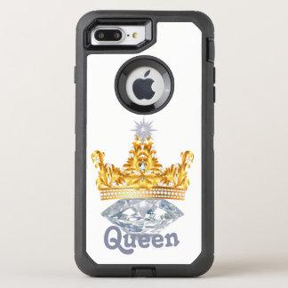 女王の金ゴールドの王冠及びダイヤモンド、オッターボックスの場合 オッターボックスディフェンダーiPhone 8 PLUS/7 PLUSケース