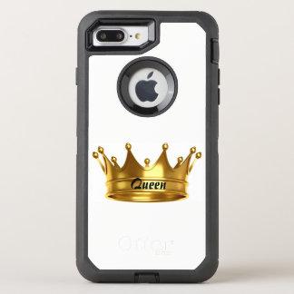 女王の金ゴールド及び白いオッターボックスの箱 オッターボックスディフェンダーiPhone 8 PLUS/7 PLUSケース