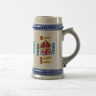 女王の60周年記念の紋章 ビールジョッキ