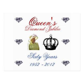 女王の60周年記念1952-2012 60年 ポストカード