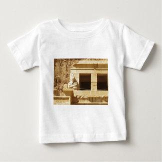女王のHatshepsutのHatshepsutの寺院彫像、 ベビーTシャツ