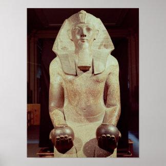 女王のMakare Hatshepsut彫像 ポスター