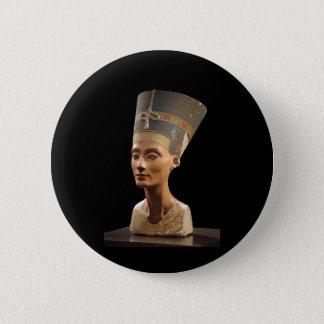 女王のNefertitiバスト 5.7cm 丸型バッジ