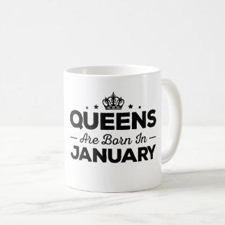 女王は1月に生まれます コーヒーマグカップ