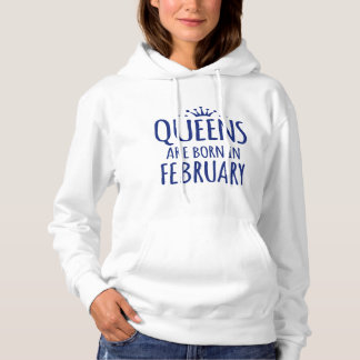 女王は2月のフード付きスウェットシャツで生まれます パーカ
