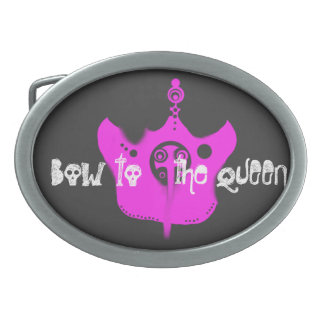 """""""女王への弓""""のパンクのプリンセスのベルトの留め金 卵形バックル"""