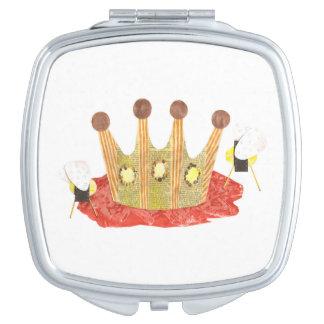 女王バチのコンパクトの鏡