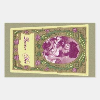 女王バチの旧式でフランスのな香水のステッカー 長方形シール