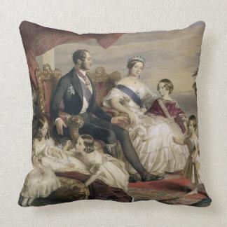 女王ビクトリア(1819-1901年)およびアルバート王子(1819年 クッション