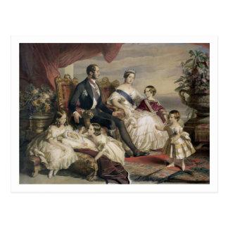 女王ビクトリア(1819-1901年)およびアルバート王子(1819年 ポストカード