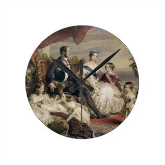 女王ビクトリア(1819-1901年)およびアルバート王子(1819年 ラウンド壁時計