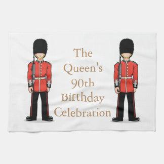 女王第90の誕生祝い キッチンタオル